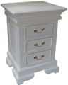 Sleigh 3 Drawer Bedside Chest